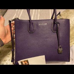 Michael Kors Mercer Large Pebbled Leather Tote Bag